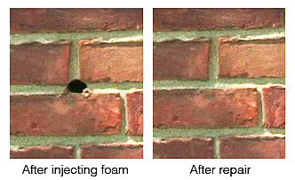 Alternative Construction Concepts - Bend Oregon - After Injecting Foam in the Wall